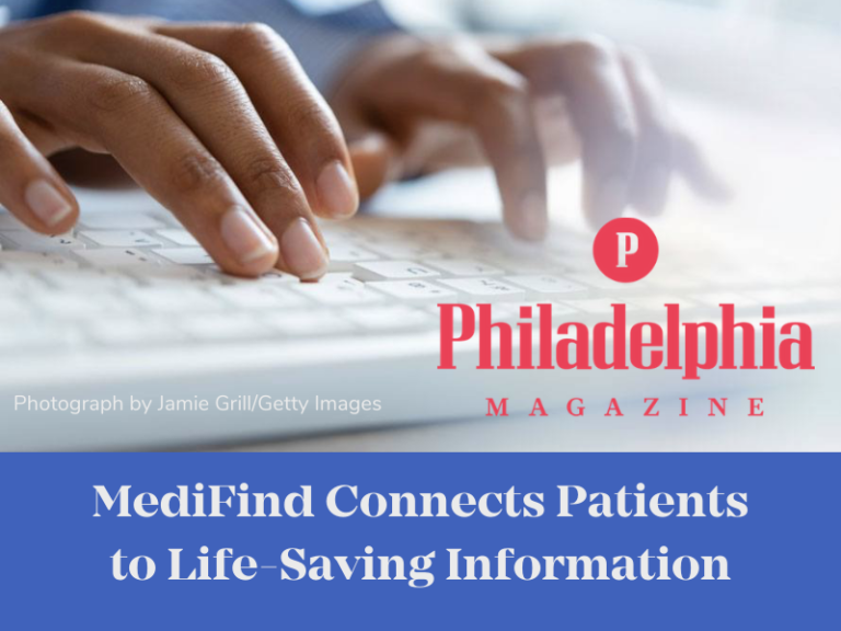 MediFind's database connects patients with life-saving information. Photograph by Jamie Grill/Getty Images