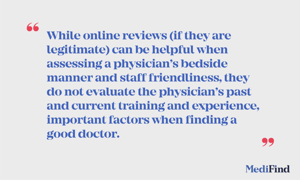 online review physician
