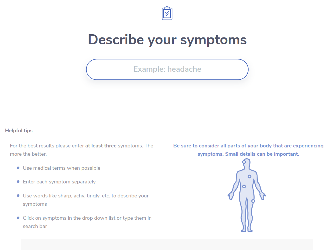 MediFind's Symptom Checker