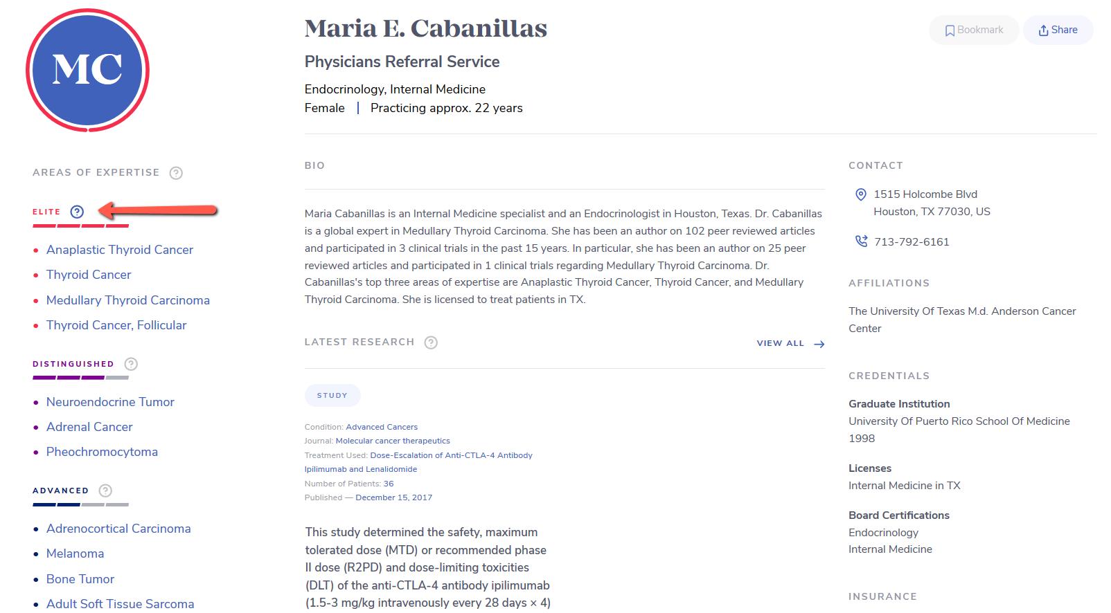 medifind physician maria cabanillas