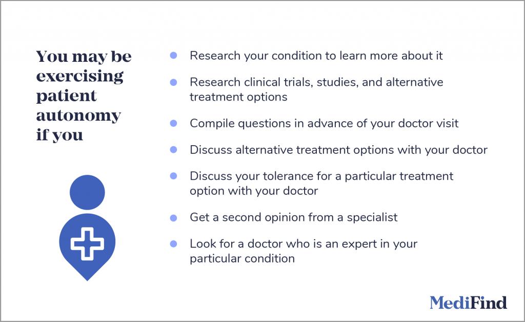 examples of patient autonomy