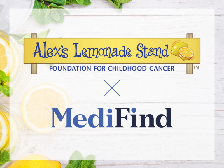 MediFind-partners-with-alexs-lemonade-stand-pediatric-cancer
