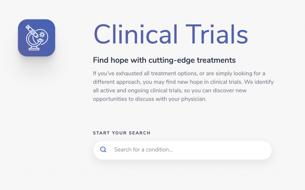 clinical trial finder at medifind