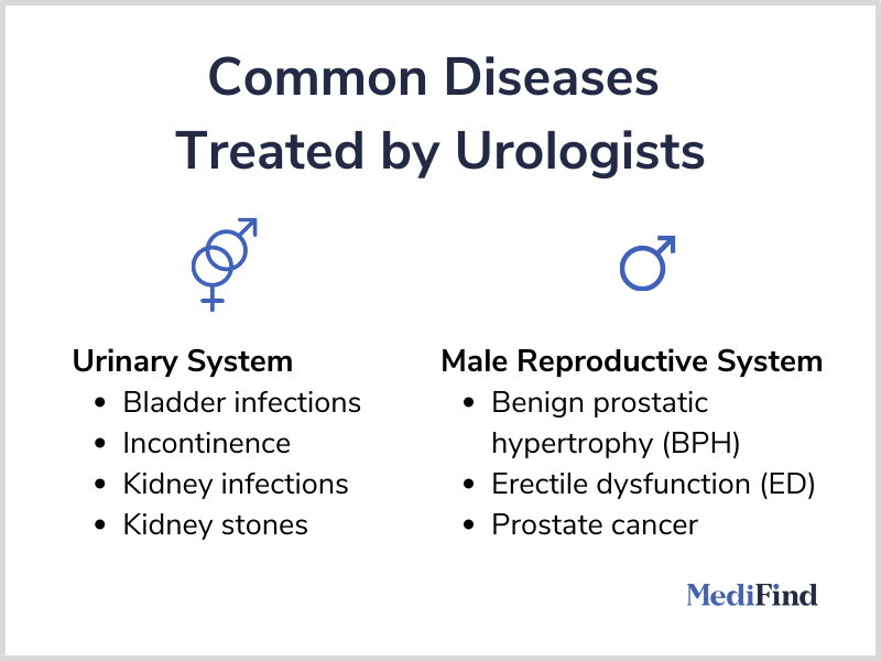 Common diseases treated by Urologists