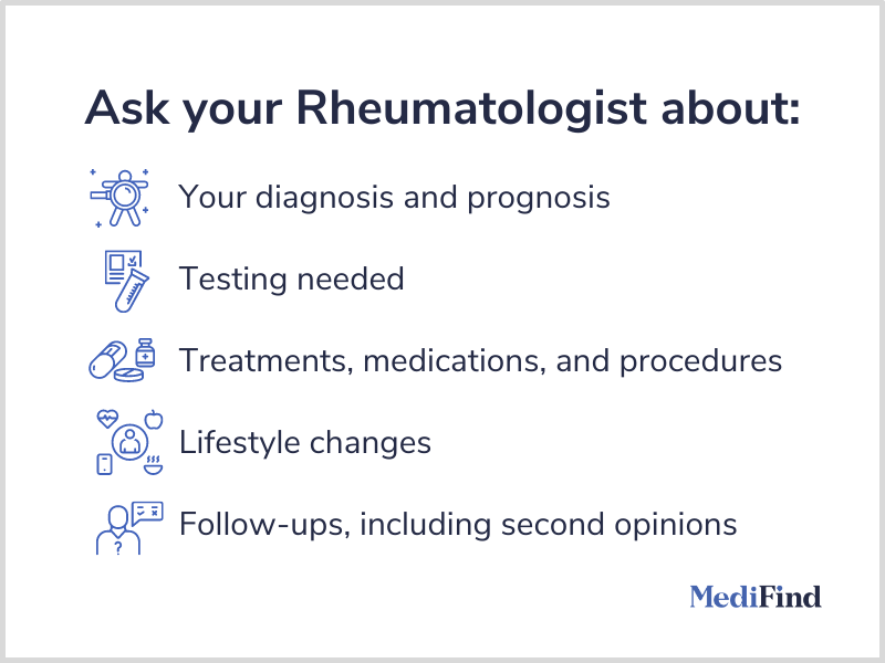 Questions to ask your rheumatologist