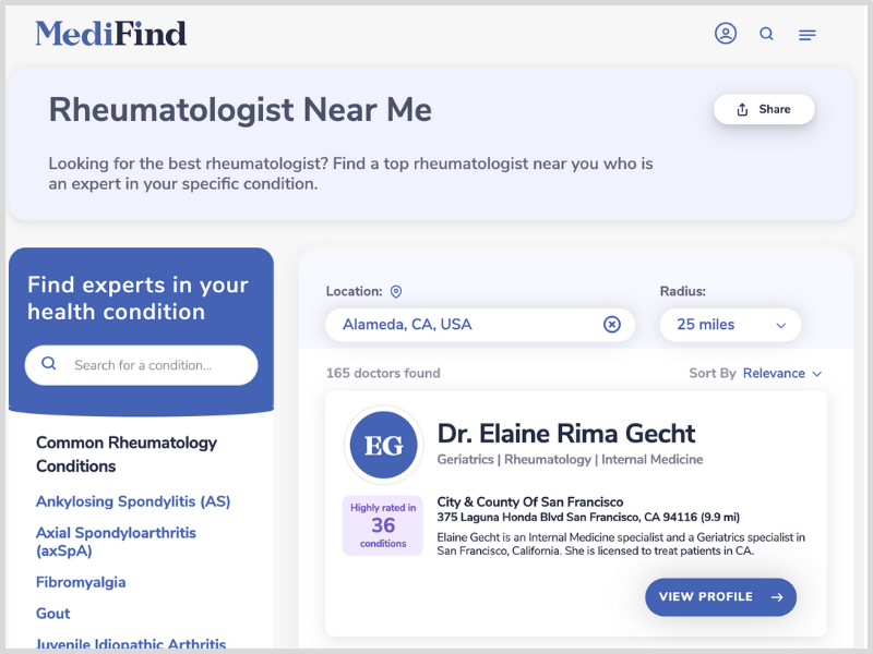 How to find the best rheumatologist near me