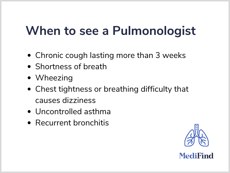 When to see a Pulmonologist