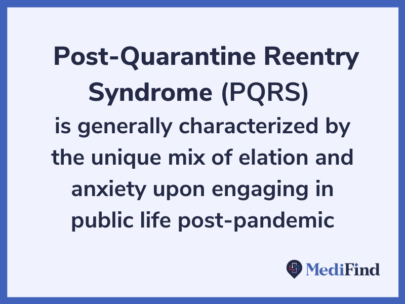post quarantine reentry syndrome pqrs